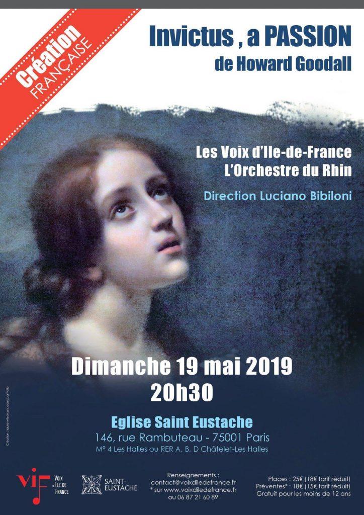 Affiche concert Invictus 19-05-2019